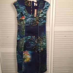 RACHEL ROY Designer. Corset Dress Turkish Sea SZ 6